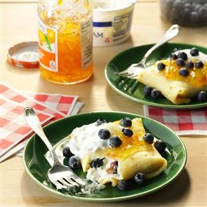 Blueberry-Orange Blintzes