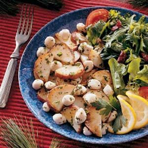 Scallop and Potato Saute Recipe