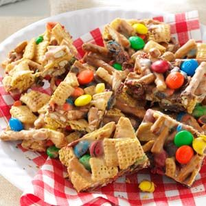 Snack Mix Squares Recipe