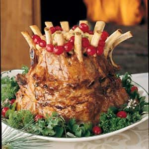 Crown Roast of Pork with Mushroom Stuffing