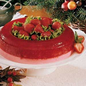Molded Strawberry Salad