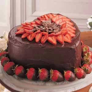 Victorian Strawberry Chocolate Cake Recipe
