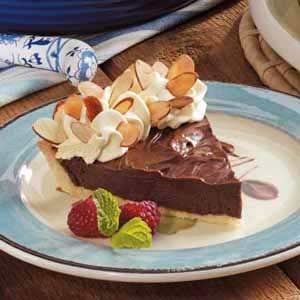 Chocolate Almond Silk Pie Recipe