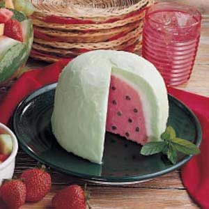 Watermelon Bombe Dessert Recipe photo by Taste of Home