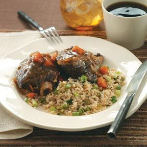 Gingered Short Ribs with Green Rice Recipe