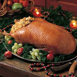 Wild Goose with Giblet Stuffing Recipe