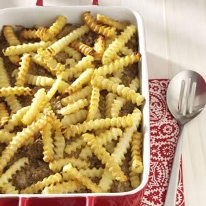 Cheeseburger 'n' Fries Casserole Recipe
