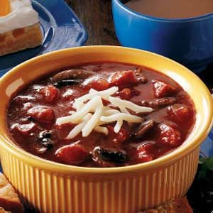 Pepperoni and Sausage Pizza Soup Recipe