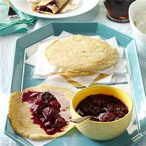 Dutch Pancakes with Berry Coulis