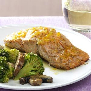 Grilled Salmon with Marmalade Dijon Glaze Recipe