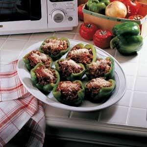 Stuffed Green Pepper Cups Recipe