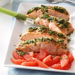 Grapefruit-Gremolata Salmon Recipe