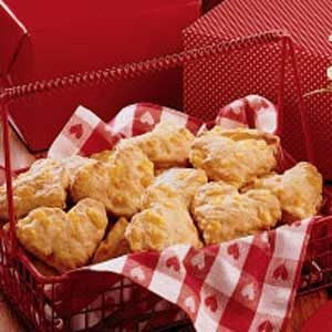 Heart-Shaped Cheese Scones