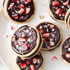 Chocolate-Peppermint Sandwich Cookies Recipe