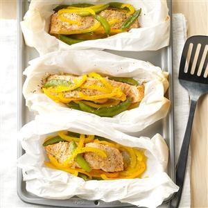 Salmon Veggie Packets Recipe