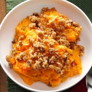 Eggnog Sweet Potato Bake