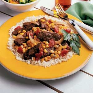 Skillet Steak and Corn Recipe
