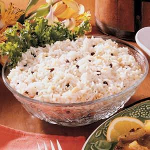 Almond Currant Rice Recipe