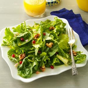 Mixed Greens with Lemon Champagne Vinaigrette Recipe