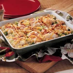 Baked fish and rice recipe taste of home for Rice recipes to go with fish
