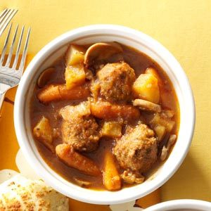 All-Day Meatball Stew Recipe