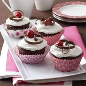Chocolate Cherry Cupcakes Recipe