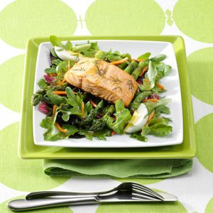 Asparagus Salad with Grilled Salmon Recipe