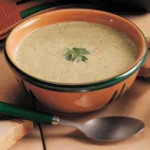 Creamy Broccoli Soup with Nutmeg Recipe