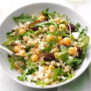 Arugula & Brown Rice Salad Recipe