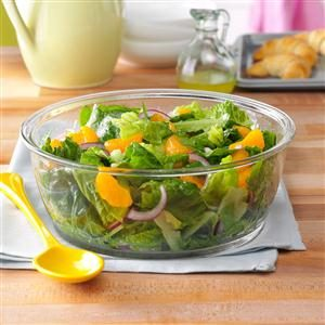 Romaine & Orange Salad with Lime Dressing Recipe
