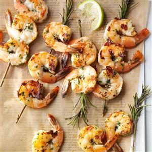 Lime-Rosemary Shrimp Skewers Recipe
