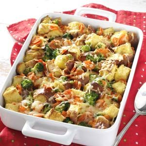 Broccoli and Carrot Cheese Bake Recipe