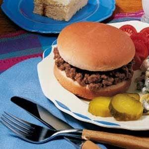 Sloppy Joe Burgers Recipe