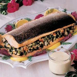 Spinach-Stuffed Salmon Recipe
