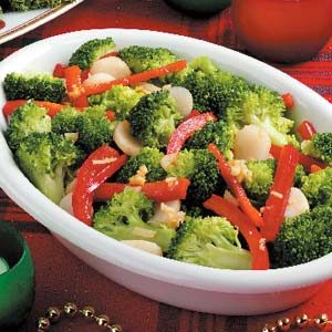Broccoli with Red Pepper Recipe