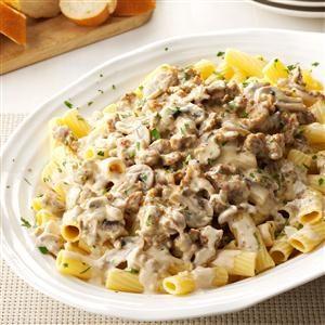 Creamy Sausage-Mushroom Rigatoni Recipe photo by Taste of Home