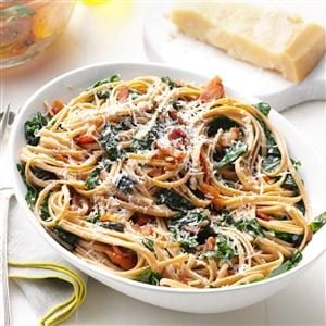 Chard & Bacon Linguine Recipe