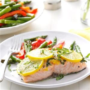 Lemon Salmon with Basil Recipe