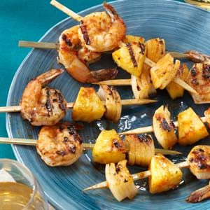 Grilled Shrimp Appetizer Kabobs Recipe