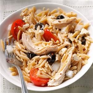 Mediterranean Orzo Chicken Salad Recipe