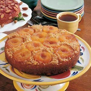 Peach Upside-Down Cake Recipe