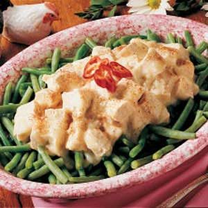 Creamed Chicken over Beans Recipe