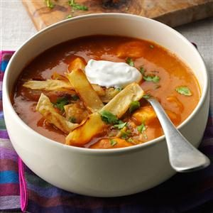 Anaheim Chicken Tortilla Soup Recipe photo by Taste of Home