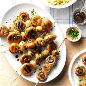 Grilled Mushroom Kabobs Recipe