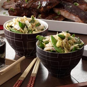 Asian Sugar Snap Peas and Cabbage Recipe