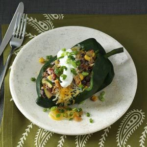 Fiery Stuffed Poblanos Recipe