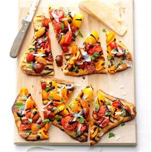 Grilled Tomato Pizzas