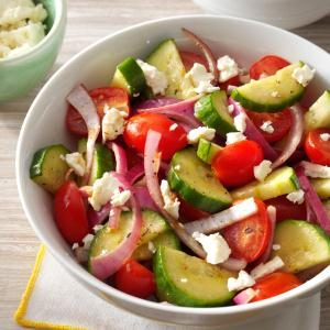 Balsamic Cucumber Salad Recipe