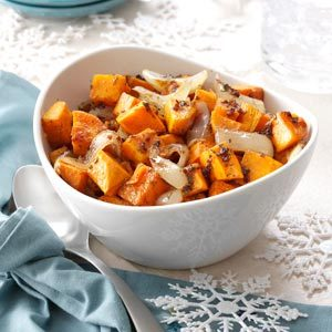 Roasted Sweet Potato and Onion Salad Recipe