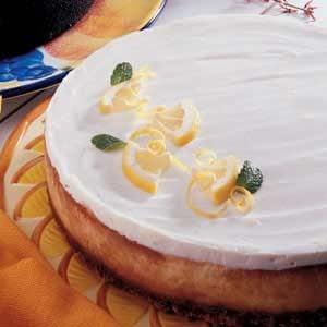 Rich Luscious Lemon Cheesecake Recipe